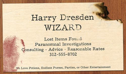 Visitenkarte eines Magiers